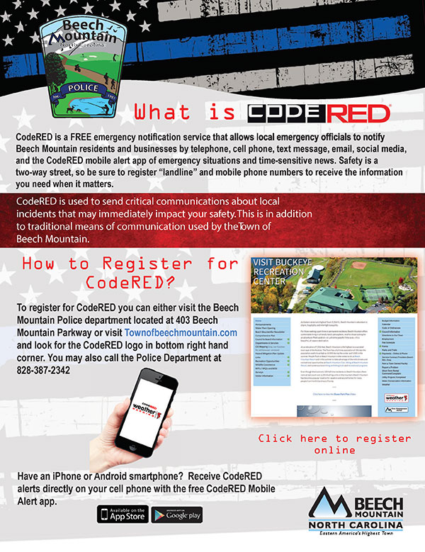 Town of Beech Mountain - Code Red